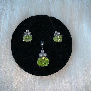 925 Earrings and Pendant Set